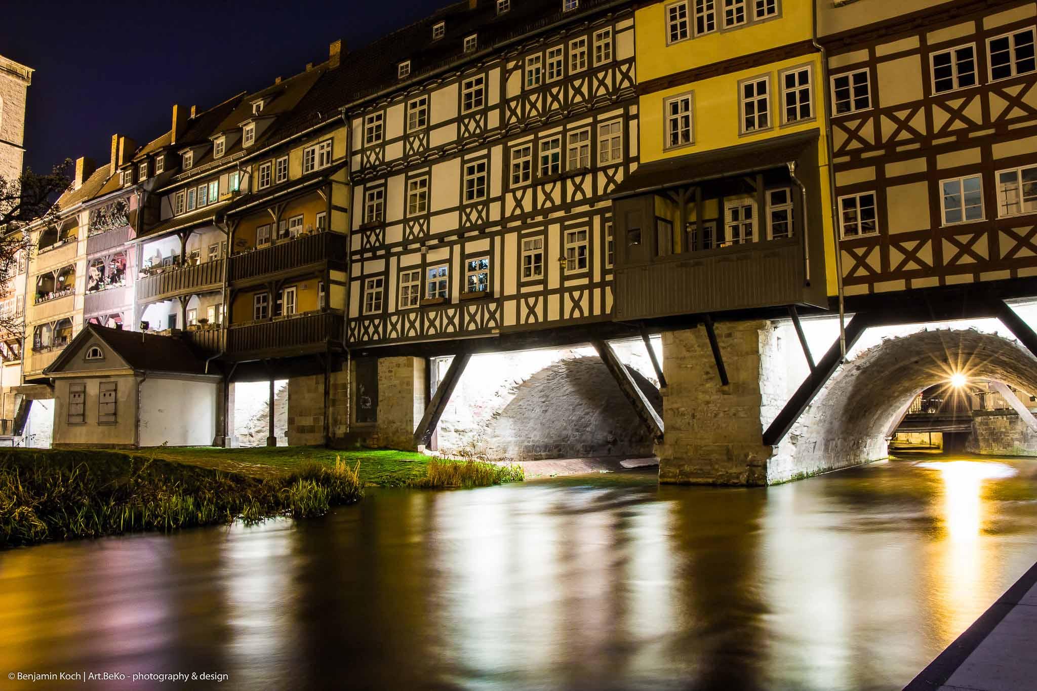 Fotografie Langzeitbelichtung Krämerbrücke Erfurt