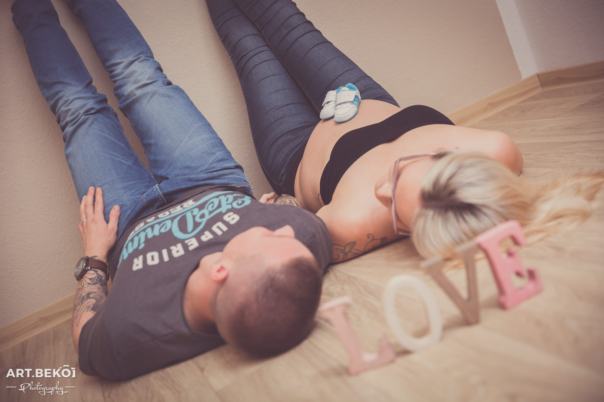 Familienshooting | Babybauch Janine & David