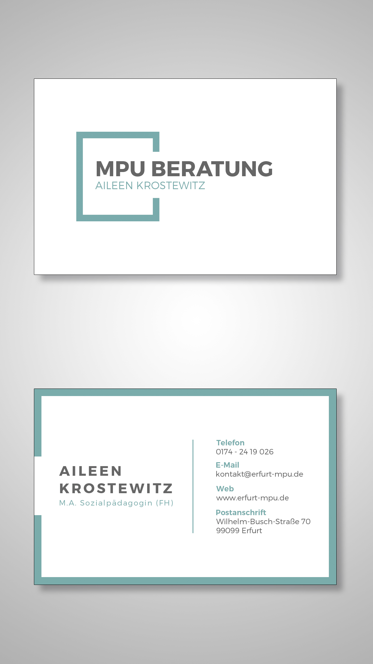 Visitenkarten Mpu Beratung Erfurt Aileen Krostewitz Art